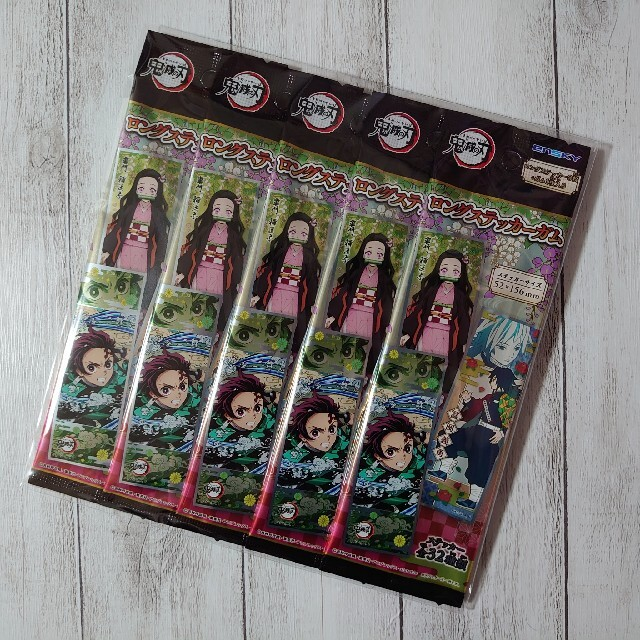 鬼滅の刃 ロングステッカーガム 未開封 5袋 エンタメ/ホビーのおもちゃ/ぬいぐるみ(キャラクターグッズ)の商品写真