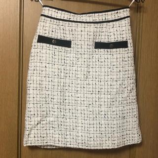 JUSGLITTY - ジャスグリッティー膝丈ツイードスカート