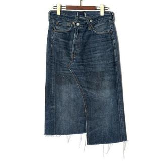 ファビアンルー(Fabiane Roux)のthridda リメイクデニムスカート fabiane roux(ロングスカート)