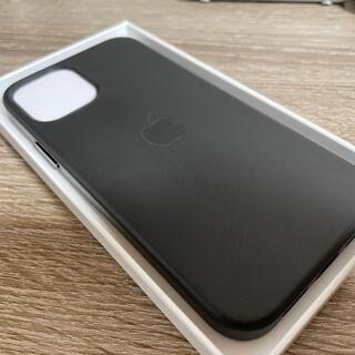 Apple - iphone12 レザーケース 純正 ブラック 美品