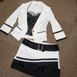アンディ(Andy)のお値下げ フロータイド スーツ ドレス キャバ ワンピ ホワイト(スーツ)
