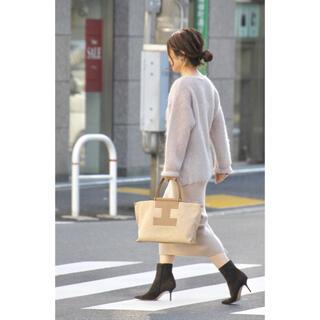 DEUXIEME CLASSE - 美品ウィムガゼット  リブタイトスカート 定番 ベージュ フリーサイズ