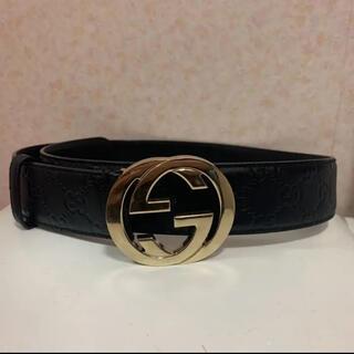 Gucci - GUCCI グッチ ベルト ブラック レディース メンズ