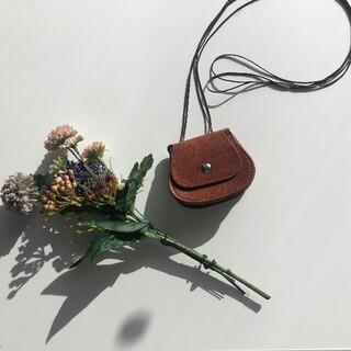 [新品] round leather bag   #No.30