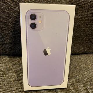 アップル(Apple)のiPhone 11 128GB パープル SIMフリー(スマートフォン本体)