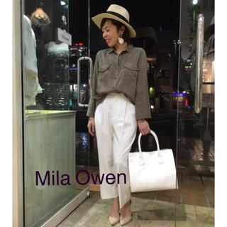 Mila Owen - 超美品◆Mila Owen テンセルシャツ