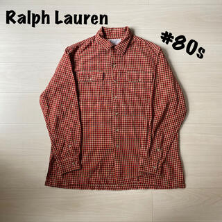 POLO RALPH LAUREN - ラルフローレン チェックネルシャツ 80年代 ヴィンテージ古着