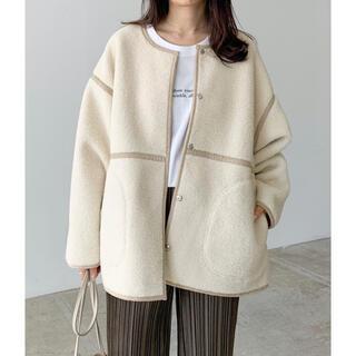 Kastane - Lian ボア パイピング コート ジャケット