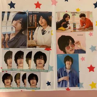 ジャニーズジュニア(ジャニーズJr.)の道枝駿佑 デタカ&厚紙カード(アイドルグッズ)