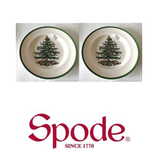 新品☆スポード クリスマスツリー ディナープレート2枚セット(食器)