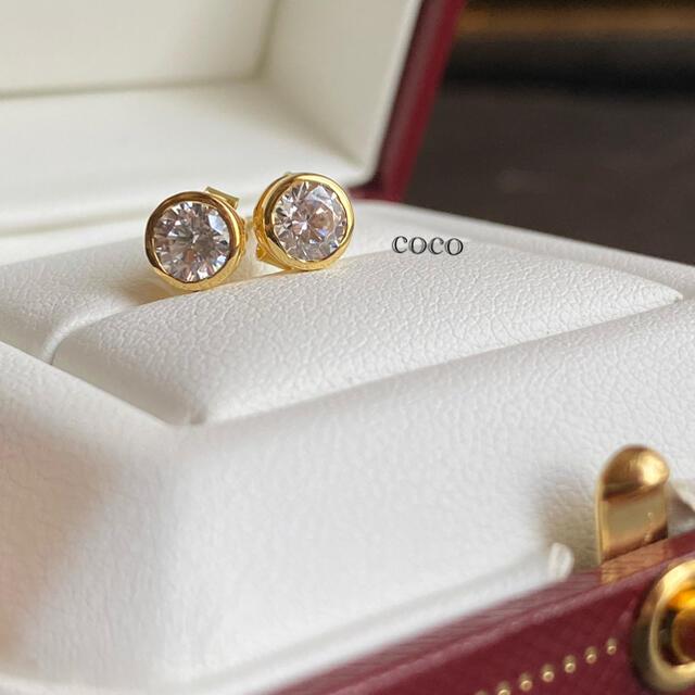 最高級 人工ダイヤモンド 6mm sona    バイザヤード   レディースのアクセサリー(ピアス)の商品写真