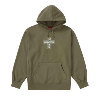 シュプリーム(Supreme)のsupreme cross box logo Lサイズ olive(パーカー)