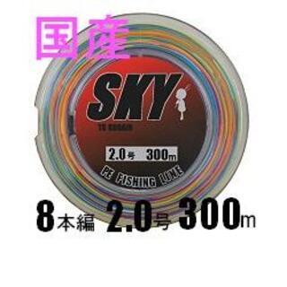 【国産】PEライン 2.0号 300m 8本編 約10m毎5色約1m毎にマーク有(釣り糸/ライン)