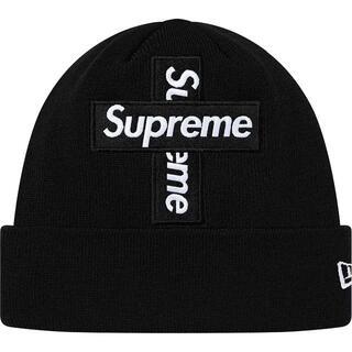 シュプリーム(Supreme)の【 Black 】 New Era® Cross Box Logo Beanie(ニット帽/ビーニー)
