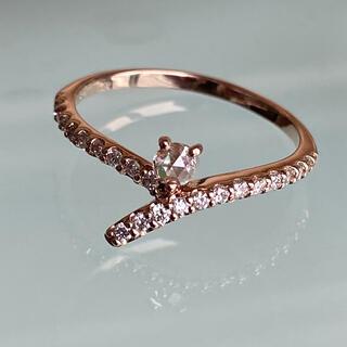 K18天然ダイヤモンド0.26リング