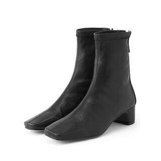 グレイル(GRL)の【即日発送】ストレッチスクエアトゥショートブーツ GRL(ブーツ)