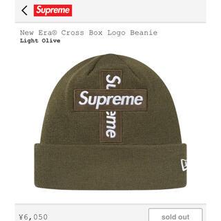 シュプリーム(Supreme)のsupreme box logo ビーニー オリーブ(ニット帽/ビーニー)