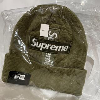 シュプリーム(Supreme)のsupreme cross box logo beanie olive (ニット帽/ビーニー)