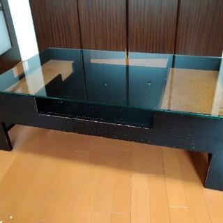 【直接取引】ローテーブル アジアン PERFORMAX ガラス天板(ローテーブル)
