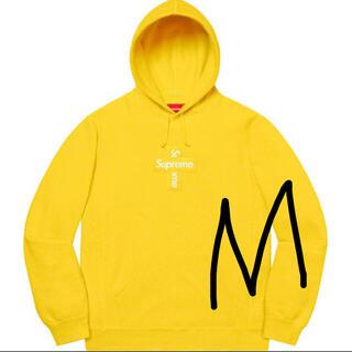 シュプリーム(Supreme)のsupreme cross box logo hooded 黄色 M(パーカー)