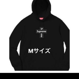 シュプリーム(Supreme)のSupreme box logo cross hooded /Black(パーカー)