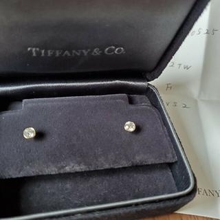 Tiffany & Co. - ティファニー バイザヤードピアス YG 0.42ct