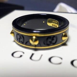 Gucci - グッチ GUCCI リング スタッズ アイコン コランダム 17号 k18 金