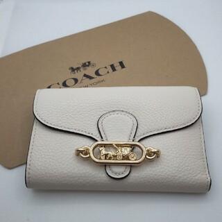 COACH - 【新品未使用】コーチ 折り財布 白×茶 バイカラー