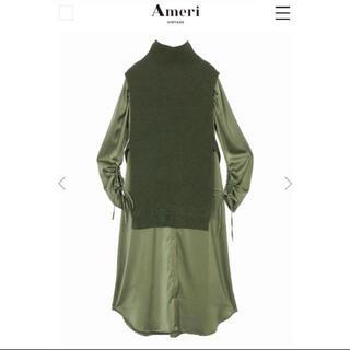 Ameri VINTAGE - 週末限定出品 Ameri VEST LAYERED SHIRT DRESS