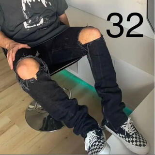FEAR OF GOD - 最安値 mintcrew rockstar denim black 32