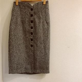 ナチュラルビューティーベーシック(NATURAL BEAUTY BASIC)のフロント釦♥スカート(ひざ丈スカート)