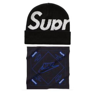 シュプリーム(Supreme)のSupreme Big Logo Beanie & NIKE bandanna(ニット帽/ビーニー)