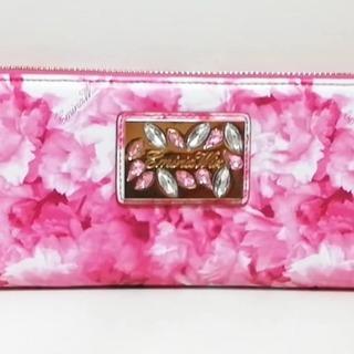 エミリアウィズ(EmiriaWiz)のエミリアウィズ 長財布美品  - ピンク×白(財布)