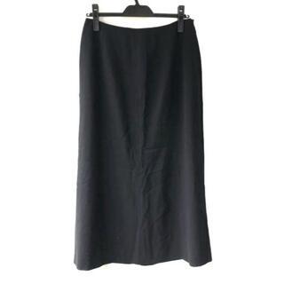 エルメス(Hermes)のエルメス ロングスカート サイズ42 L - 黒(ロングスカート)