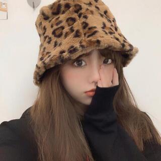 ZARA - 【新品】今季流行💓もこもこハット*レオパード
