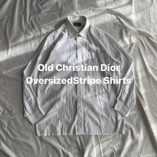 クリスチャンディオール(Christian Dior)のChristian Dior クリスチャン ディオール ストライプ シャツ 古着(シャツ)