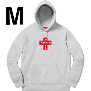 Supreme - supreme Cross Box Logo Heather Grey M