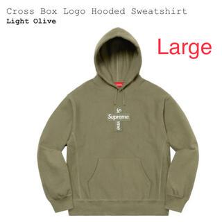 Supreme - Supreme Cross Box Logo Hooded L ボックスロゴ