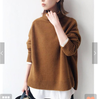 IENA - IENA AQUA ハイネックワイドプルオーバー ニット セーター ◆