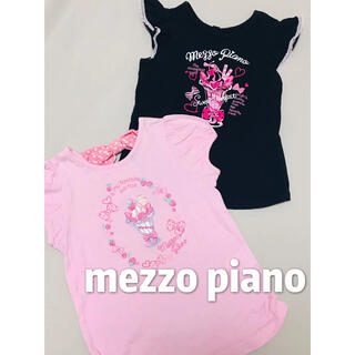 mezzo piano - メゾピアノ Tシャツ 半袖トップス 2点セット 美品 120