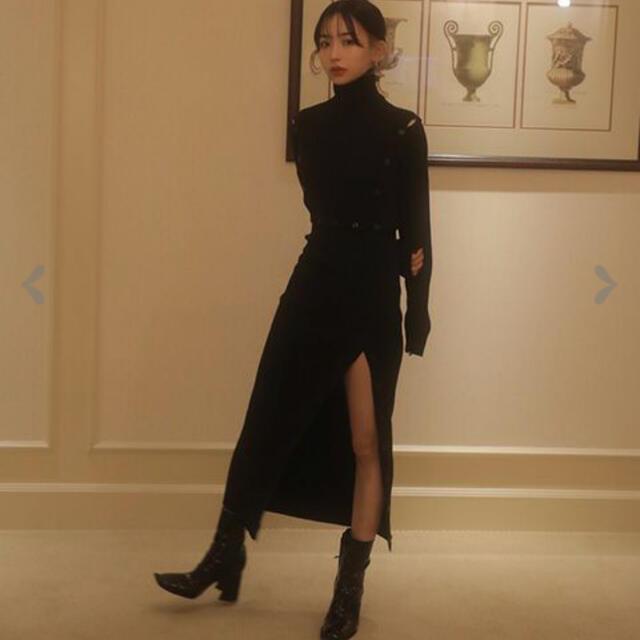 melt the lady ボタンオープンニットドレス レディースのワンピース(ロングワンピース/マキシワンピース)の商品写真