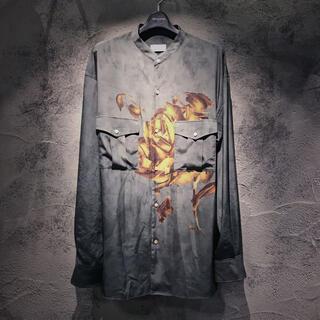 JOHN LAWRENCE SULLIVAN - 定価48400円!BED J.W. FORDベッドフォードローズプリントシャツ
