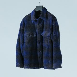 COOTIE - COOTIE Ombre Boa Check CPO Jacket
