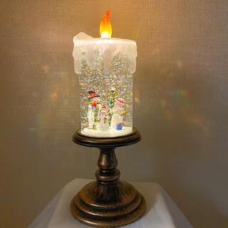 スノードーム ライト付き キャンドル クリスマス