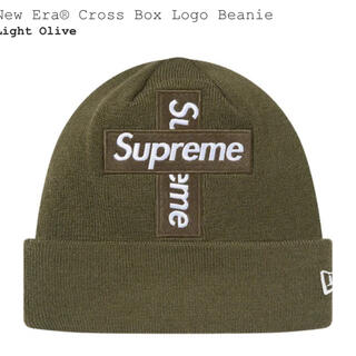 Supreme - supreme cross box logo beanie olive