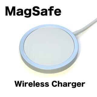 アイフォーン(iPhone)のMagSafe充電器 ワイヤレス充電 マグネットで吸着(バッテリー/充電器)