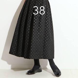 IENA - IENA LA BOUCLE ドットジャガード タックスカート◆ ブラック38