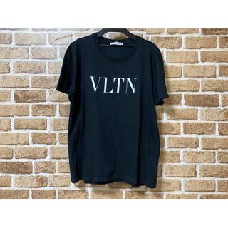 VALENTINO - VALENTINO ヴァレンティノ Tシャツ VLTNロゴ 黒 ブラック S
