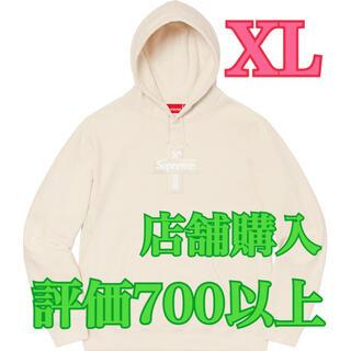 シュプリーム(Supreme)のナチュラルXL★Cross Box Logo Hooded Sweatshirt(パーカー)