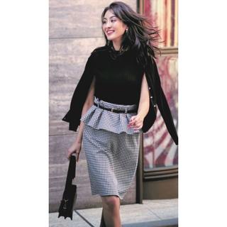 JUSGLITTY - 美品 ジャスグリッティー ドット柄 スカート ブラック